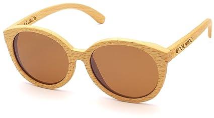 WOO LANDO - Unisex Buchen-Sonnenbrille, braun getönt