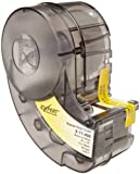 Brady X-11-498 IDXPERT 0.75'' Height, 0.5'' Width, B-498 Repositionable Vinyl Cloth, Black On White Color Label (275 Per Cartridge)