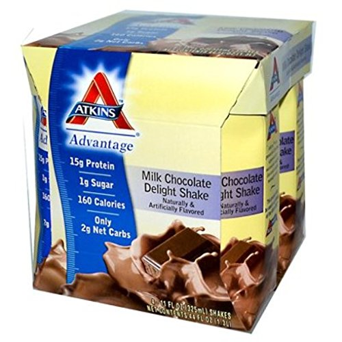 ATKINS Ready To Drink Shake, Milk Chocolate Delight, 4 Co...