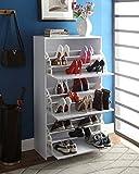 4D Concepts Deluxe Triple Shoe Cabinet, White