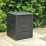 Wido Black 260L Garden Composter Box Weatherproof Plastic Eco Friendly Waste