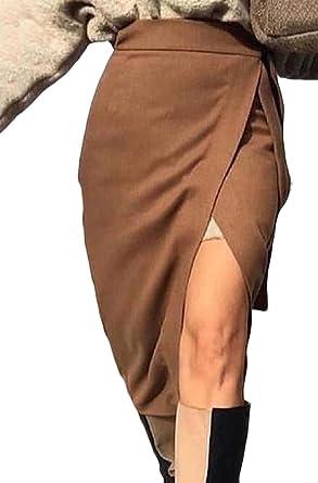 Desconocido Falda Larga para Mujer con Cintura Larga, Cintura Alta ...