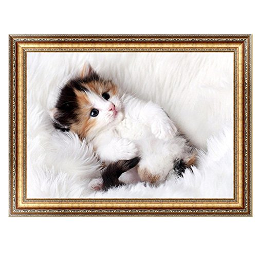 Techinal DIY 5D Diamond Embroidery Painting Cute Cat Cross Stitch Home Decor Craft