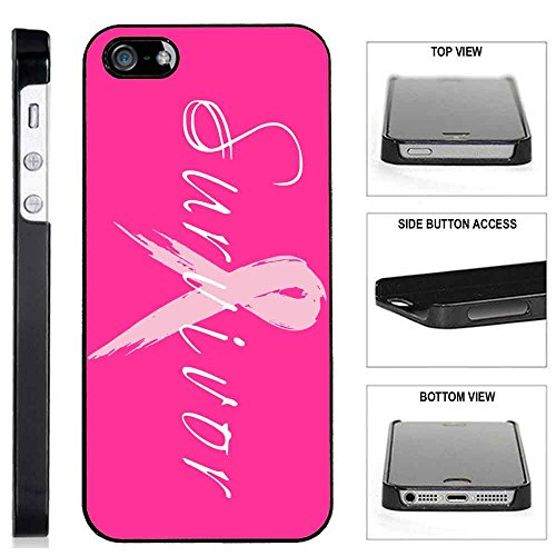 [TeleSkins] - iPhone SE / 5S / 5 Plastic Case - Survivor Breast Cancer - Ultra Durable Slim Fit, Protective Plastic Snap On Back Case / Cover