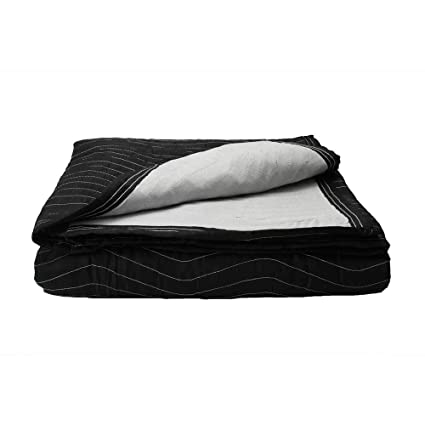60ce058de5b0 Supreme Mover Moving Blanket | 72 inch x 80 inch Heavy Duty Black and White  Moving Pad| 7.5 pounds each (90 pounds per dozen) | 1 Blanket