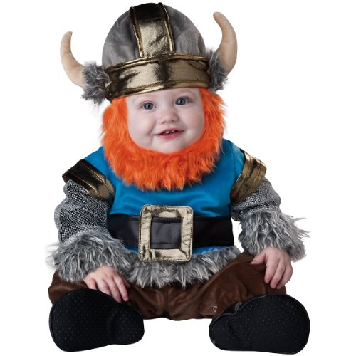 InCharacter Baby Boy's Viking Costume, Silver/Blue, Large(18mos - -