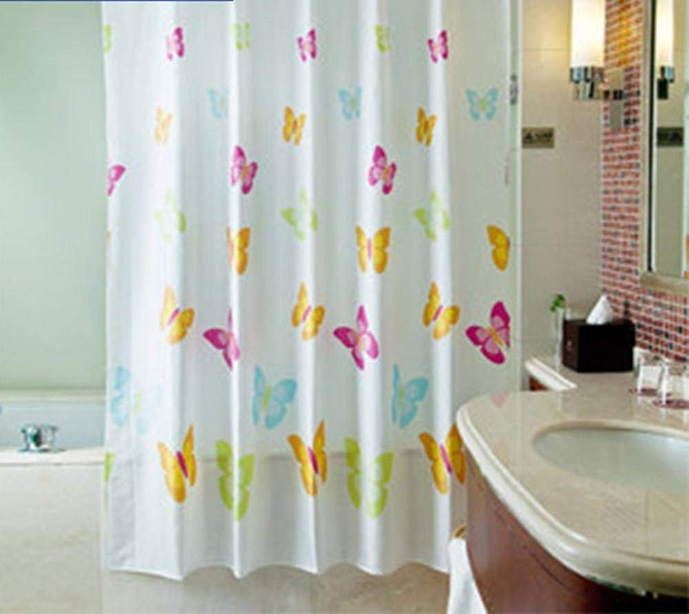 JaHGDU Shower Curtain 1pcs Printing Shower Curtain Waterproof Polyester Fabric Durable Partition Toilet Shade Super Quality Opaque Bathroom Amenities (Size : Color Butterfly 220180) by JaHGDU (Image #3)