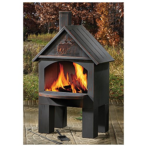 Cabin-Style Cooking Chiminea - Outdoor Cooking