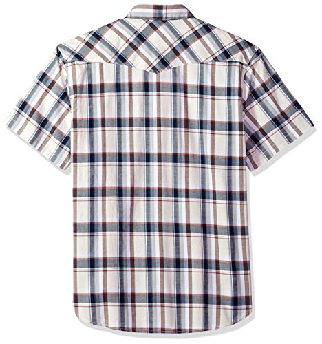 Lucky Brand Men's Casual Short Sleeve Plaid Western Button Down Shirt, Natural Plaid, L by Lucky Brand (Image #2)