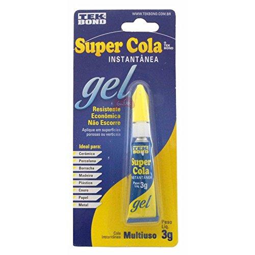 Super Cola Instantânea Gel Multiuso 3 g Tekbond