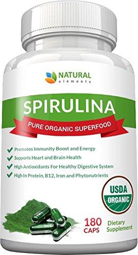Spirulina Capsules California Pesticides Vegetarian product image