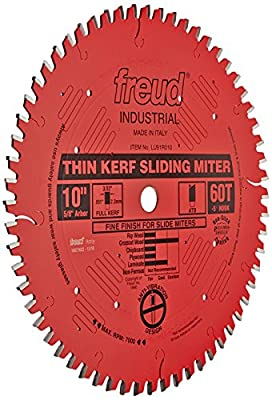 Freud LU91M008 8-1/2-Inch 48-Tooth Industrial Sliding Compound Miter Saw Blade