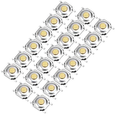 uxcell マイクロタクトスイッチ PCB SMD SMT 押しボタン SPST 5x5x1.6mm 20枚入り