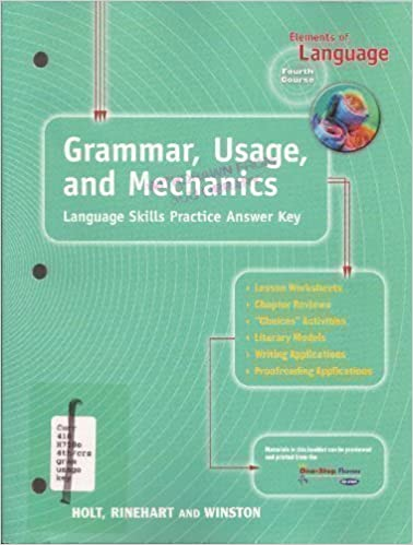 Elements of Language Fourth Course Grade 10 Grammar, Usage, and ...