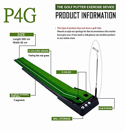 Indoor Golf Set P4G Ball Auto Return Putting Mat Indoor and Outdoor Mini Golf by P4G (Image #7)