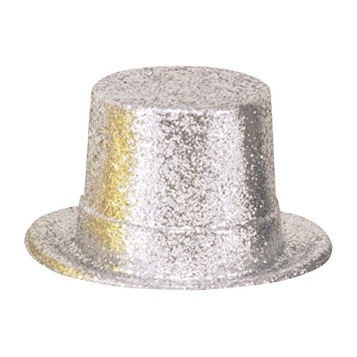 [Amscan Silver Glitter Top Hat] (Group Of 5 Halloween Costume Ideas)