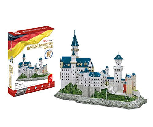 Castle Model (CubicFun World's Great Architectures MC062h Germany Neuschwanstein Castle 3d Puzzle, 121 Pieces)