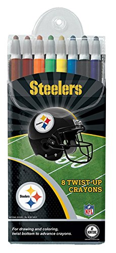 Pittsburgh Steelers Twist-up Crayons, 8 Pack - NFL (12018-QUW) by National Design