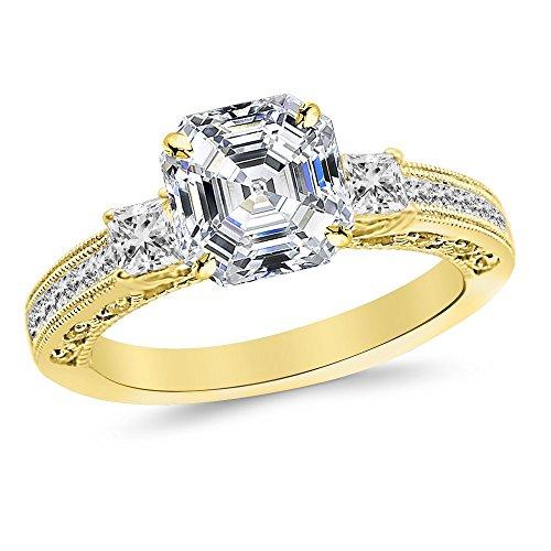 0.52 Ct Asscher Diamond - 6