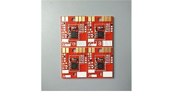 el envío libre de 4 colores Eco plotter solvente chip de Mimaki Permanente / JV33 JV5 CJV30 cartucho de tinta BS3: Amazon.es: Electrónica