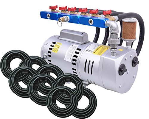 EasyPro PA100WLD 1 HP Rotary Vane Aeration System Aerates up to 18 feet deep