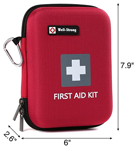 WELL-STRONG 128 Pieces First Aid Kit - Compact and Lightweight First Aid Bag - Essential for Home, Car, School, Office, Sports, Travel, Camping, Hiking or Any Other Outdoors Activities by WELL-STRONG (Image #5)