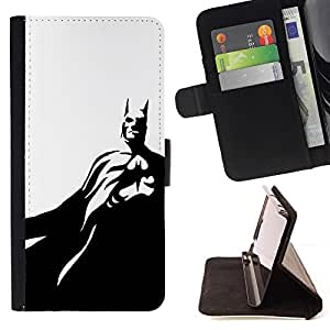 Momo Phone Case / Flip Funda de Cuero Case Cover - Black White Flying Mask - HTC Desire 626