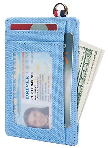 Unisex Premium Leather - Small RFID Blocking Minimalist Credit Card Holder Pocket Slim Wallets for Men & Women