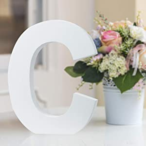 Multiple Sizes Decorative Free-Standing Alphabet Letters for Children Kids Bedroom Wedding Birthday Party Home Decor (C, 8inch / 20.32cm)