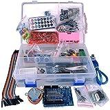 Kuman K4D Kit para Arduino UNO 3 Uno R3, microcontrolador y accesorios, para principiantes, más de 50 piezas, incluyendo la tarjeta Relay