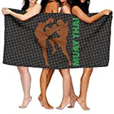 HONGYUDE Muay Thai 100% Polyester Velvet Absorbent Towels 31 X 51 inches