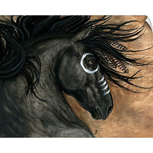 "CANVAS ON DEMAND Majestic Stallion Horse Wall Peel Art Print, 30""x24"""