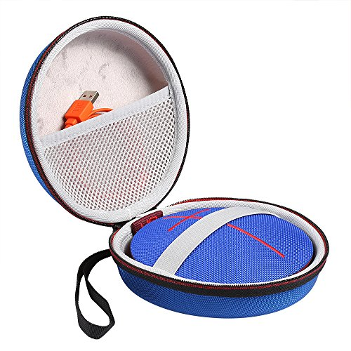 Poschell Case for UE Roll 2 or UE Roll Wireless Bluetooth Portable Speaker Carrying Protective Travel Bag Fits USB Cable Blue