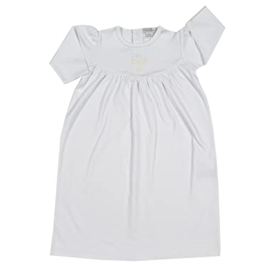 Amazon.com: Kissy Kissy Baby Girls Baby Blessings Day Gown - White ...