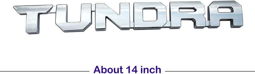 2Pcs OEM 14 inch TUNDRA Emblem Glossy black 3D Original Stickers Door Badge Replacement for 2013-2018 1974 SR5 TRD PRO Nameplate