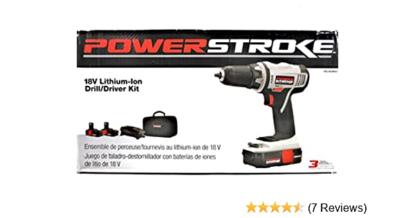 Ryobi Power Stroke 18V Lithium Ion Drill Kit w 2 Batteries & Charger ...
