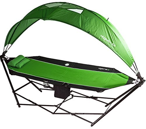 Kijaro All in One Outdoor Camping Hammock with 180 Degree Detachable Shade and Rain Canopy and Built in Cooler