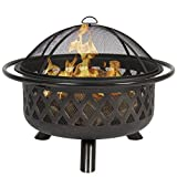 Best Choice Products Bronze Fire Bowl Fire Pit Patio Backyard Outdoor Garden Stove Firepit, 36''