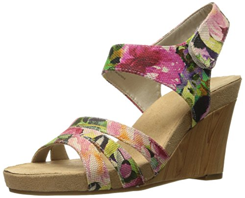 A2 by Aerosoles Women's Plush Day Wedge Sandal, Floral Combo, 8 M US (Floral Sandals Wedge)