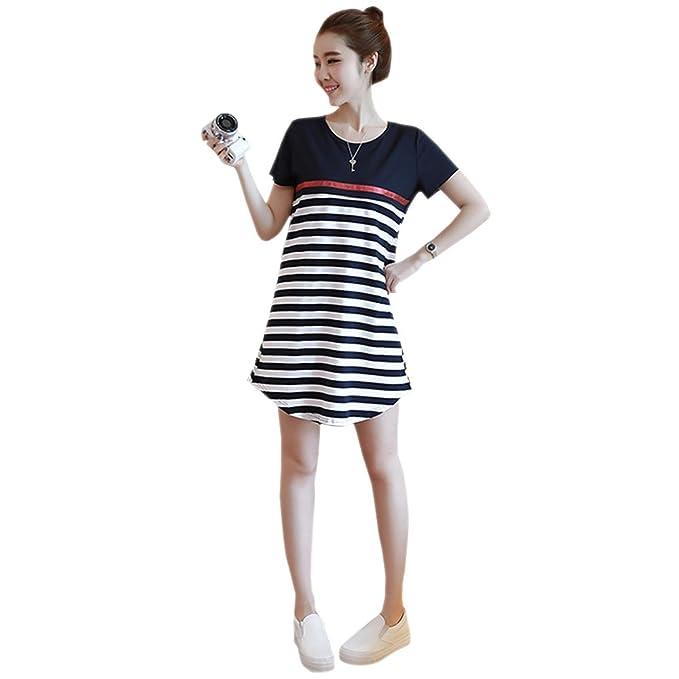 KINDOYO Vestido Lactancia de Mujer Embarazo - Moda Cómodo Algodón Premamá Blusa Maternidad Camiseta Vestidos Verano