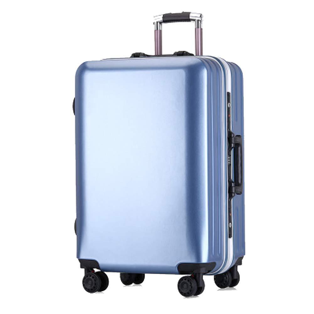 爆発モデルpcアルミフレームトロリーケースビジネススーツケースカスタムパスワードロック搭乗シャーシキャスター赤い荷物バッグ B07QTQ5HBP blue Small