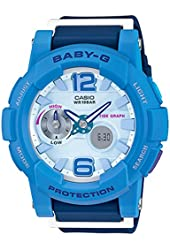 Casio Baby-G Analogue/Digital Female Blue Watch BGA180-2B3