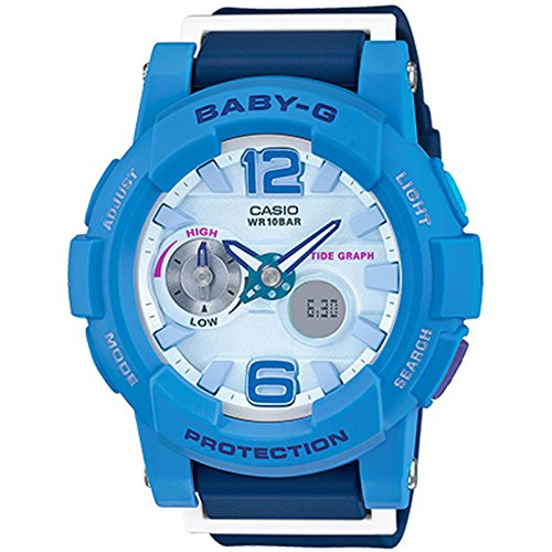 Casio Baby-G Analógico/Digital hembra azul reloj bga180 - 2B3: Amazon.es: Relojes