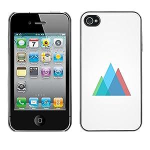 // PHONE CASE GIFT // Duro Estuche protector PC Cáscara Plástico Carcasa Funda Hard Protective Case for iPhone 4 / 4S / Neon Geometría /