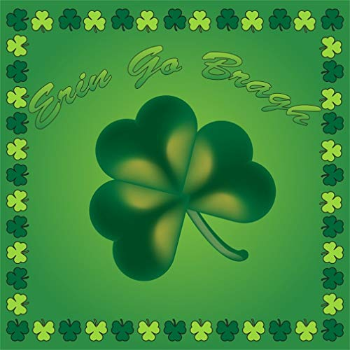 - Leyiyi 8x8ft Happy St. Patrick's Day Backdrop Greenery Clover Frame Banner Cartoon Shamrock Background Erin Go Bragh Ireland Spring Holiday March Carnival Adults Portrait Vinyl Prop Studio Wallpaper