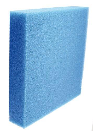 Amtra A3050I25 IE025 Biocell Filterschaum Zuschnitte, L, 50 x 50 x 5 cm, blau