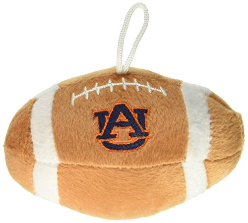 (Sporty K9 NCAA Auburn Tigers Plush Football Pet Toy, 5-inch Long with Inner Squeaker)