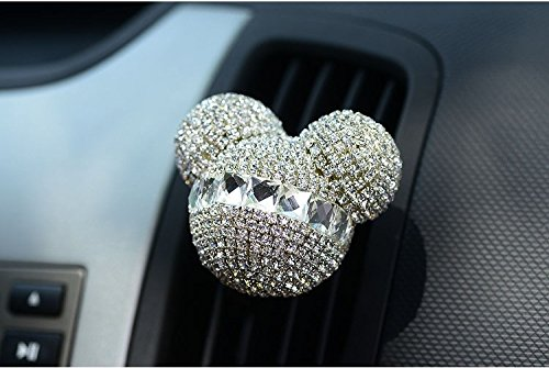 (FINEX Auto Mickey Mouse Sparkling Car Fragrance Air Freshener Holder ContainerSet of 2)