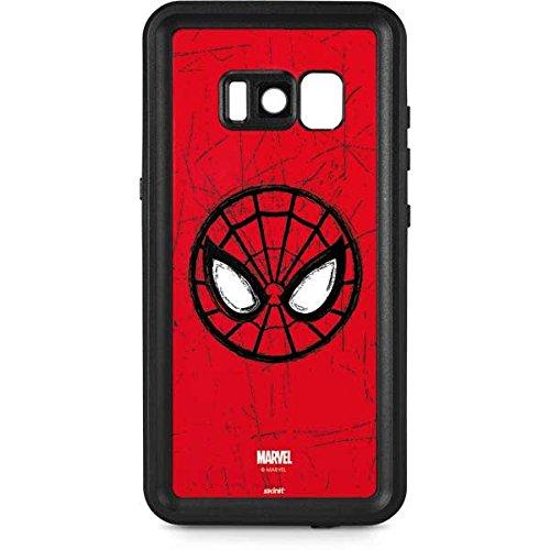 free shipping a6bdd cb149 Amazon.com: Skinit Spider-Man Face Galaxy S8 Waterproof Case ...