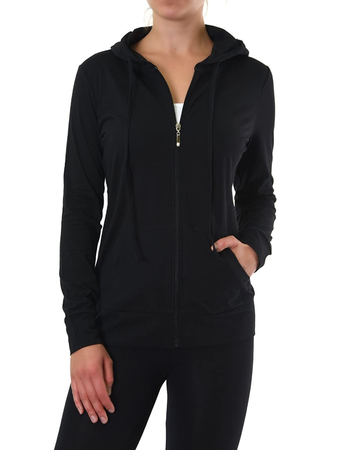 Teejoy Womens Cotton Hoodie Jacket Image 1